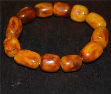 tibetan amber bracelet old baltic natural antique mala prayer beads yellow tibet