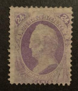 TDStamps: US Stamps Scott#153 24c Scott Used Lightly Crease CV$230.00