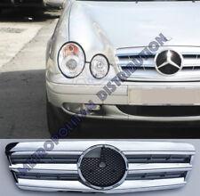 Mercedes w208,c208,1995-03,chrome grill,Central Star,AMG CLK63 look.CLK55;CLK320