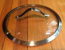 """Calphalon Stainless Steel & Glass Pot Pan Lid 9 1/2"""" Diam For 9 1/4"""" Inside Diam"""