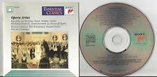 Opera Arias - Sony Classical SBK 46548 CD 15 tracks Verdi Puccini Bellini Mozart