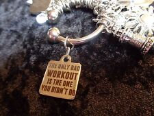 """The only bad WORKOUT is one you didn't do"" Charm for Weight Watchers Keychain!"