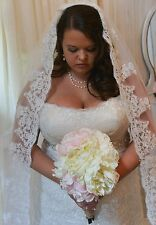 Charming-One-Tier-Bridal-Cathedral-Wedding-Veil-  white