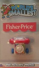 World's Smallest Fisher-Price Chatter Telephone Mini Phone Toy by Super Impulse