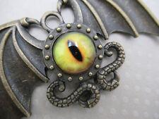 Winged Bat Dragons Intense Eye Pendant Halloween Decoration Steampunk Gothic 1pc