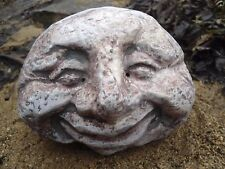 "smiling face rock poly plastic mould free standing 5.5"" x 4"" x 2.5"""