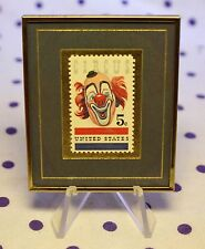 Hanford Heirlooms US United States 1966 5c Cent American CIRCUS Stamp Framed