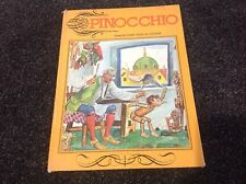 PINOCCHIO Vintage 1974 Hamlyn fairy tales in colour Hardcover GORGEOUS