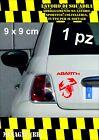 adesivo adesivi abarth stickers tuning scorpione auto fiat 500 moto ROSSO RED