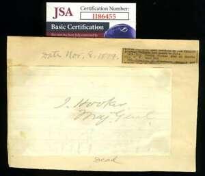 Gereral Joseph Hooker JSA Coa Hand Signed US Army Civil War Autograph