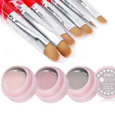 10pcs/set Nude Pink Color Gel Polish & UV Gel Nail Art Brush Painting Pen Kit