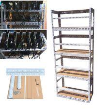 DIY 4 Layers Steel Bitcoin Mining Rig Open Air Frame Case Shelf Set For 24 GPU