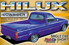 AOSHIMA 1/24 TOYOTA HILUX LOW RIDER PICK UP TRUCK MODEL KIT * UK RESTOCKED!*
