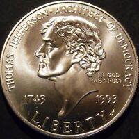 1993 Jefferson Dollar Gem BU Uncirculated