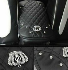 Auto Car Accessories PU Leather Protector Bling Rhinestone Console Armrest Pad
