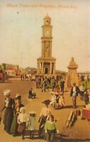 Vintage Repro 1906 Postcard, Clock Tower and Fountain Herne Bay, Kent 26N