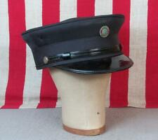 Vintage Antique Firefighters Uniform Hat Visor Cap Engine Co.Badge Fire Dept