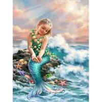 5D DIY Full Drill Diamond Painting Sea Fish Girl Cross Stitch Embroidery Kits