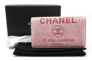 CHANEL Deauville Liner Wallet Nylon, Cotton, Carf cw1211