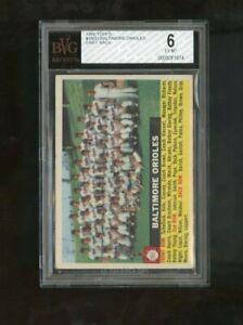 1956 Topps Baltimore Orioles #100 TEAM CENTERED BVG 6 EX-MT