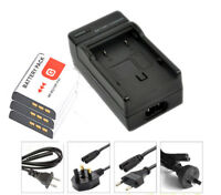 New 3pcs Battery and Charger NP-BG1 NP-FG1 For Sony CyberShot DSC-W130 H3 NPBG1