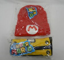 Super Mario Red Beanie Hat and Yellow Question Block Scarf by Culturefly