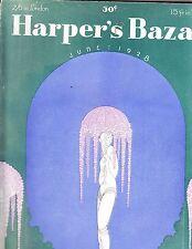Harper's Bazar Bazaar June 1928 Erte Manhattan New York De Meyer Nowitzky Patou