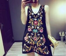 Polyester Floral Dresses for Women with Embroidered