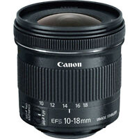 Canon EF-S 10-18mm f/4.5-5.6 IS STM Lens for Canon DSLR Cameras NEW!