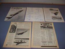 VINTAGE..VOUGHT F7U CUTLASS HISTORY..HISTORY/PHOTOS/3-VIEWS..RARE! (754M)