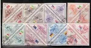 Honduras,Scott#484-488+C103-C105,pair imperf.,used