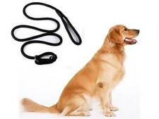 Dog Leash Whisperer Cesar Millan Style Slip Training Nylon Lead Collar Rope blac