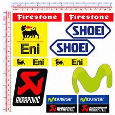 Adesivi sponsor sticker replica firestone eni movistar akrapovic pvc 14 pz.