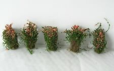 5 FLOWERING SCRUB BUSH HEDGE UNDERGROWTH SCENERY MODEL RAIL HO / N / Z SCALE