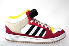 ADIDAS DECADE Old School Mid Top White Pink Yellow Fashion Sneakers Womens 7.5