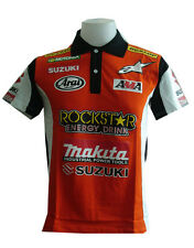 NEW SUZUKI RAC MOTORCYCLE SPORT RACING TEAM BIKE ORANGE POLO SHORT T-Shirt Sz XL