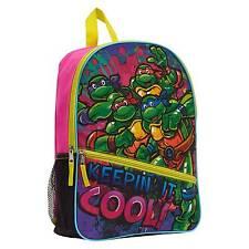 "NEW Teenage Mutant Ninja Turtles 16"" Keepin"" It Cool Kids Backpack - Pink"