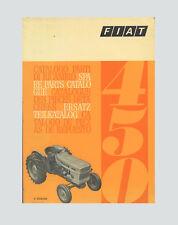 FIAT 450  Schlepper Ersatzteilliste Orginal 1970