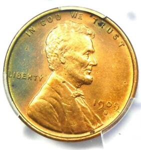 1909-S VDB Lincoln Wheat Cent 1C - PCGS Uncirculated Details - Rare MS UNC Coin!