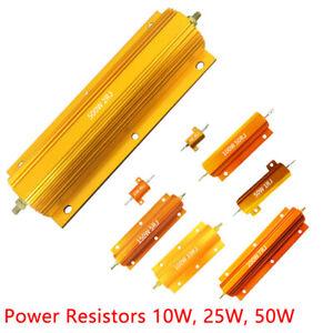 10/25/50W Watt Shell Power Aluminum Housed Case Wirewound Resistor 0.1-470 Ohm