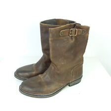 TOMMY HILFIGER DENIM Stiefelette Steifel Leder Braun Boots Gr. EUR 37 (T32)