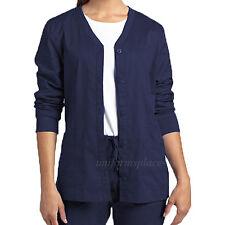 White Cross Allure Scrubs Long sleeve Jacket Women's Button Front Shirts 949 Top