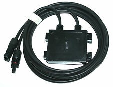 SOLAR JUNCTION BOX WITH (2) 10 FT CABLE AND MC4 CONNECTORS MALE AND FEMALE 10AMP