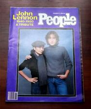 People Magazine  December 22 1980  John Lennon 1940 - 1980  A Tribute  New Cond.