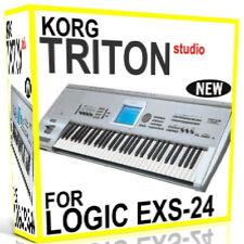 KORG TRITON STUDIO For APPLE LOGIC EXS EXS-24 Samples/Presets/Sounds 5 DVDS 15GB