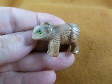 (Y-Wom-13) Wombat marsupial Soapstone carving Peru figurine love little wombats