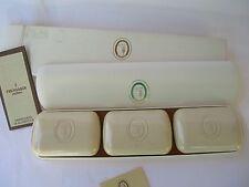 TRUSSARDI WOMAN  LUXURY CASE n.1 OUTLET 3 SAVON PARFUME 100 gr each RARE VINTAGE