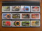 Série complète Les animaux nous regardent 2015 (YT 1152 à 1163), 12 timbres