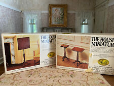 Vintage Dollhouse House of Miniatures 2 DIY Kits Fire Screen & Pair Candlestands