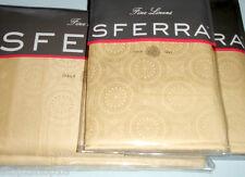 Sferra SARTO Queen Duvet & Shams 4 PC Honey Egyptian Cotton Sateen Jacquard New